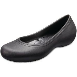 Crocs At Work Black Ballet Flats Shoes 11